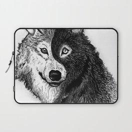 Ying Yang Wolf Laptop Sleeve