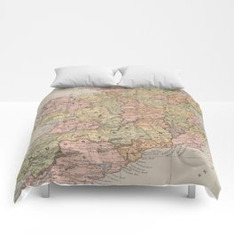 Vintage Map of Ireland (1883) Comforters