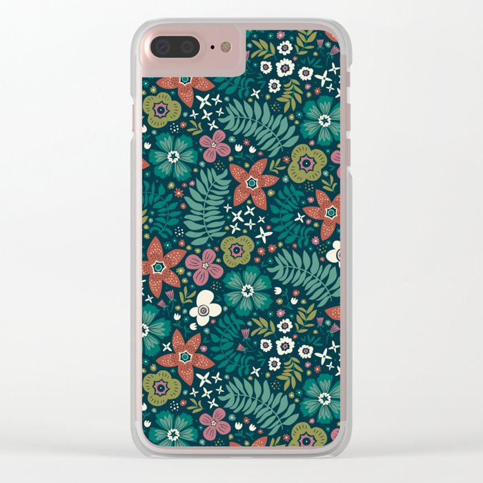 Secret Meadow Clear iPhone Case