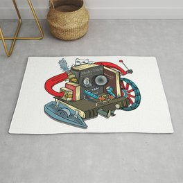 The Machine is one with your books Rug