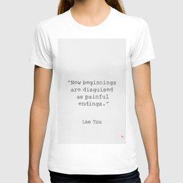 Lao Tzu. New beginnings... T-shirt