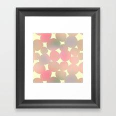 ombre pebbles Framed Art Print
