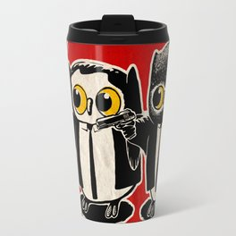 Owls Pulp Fiction Travel Mug