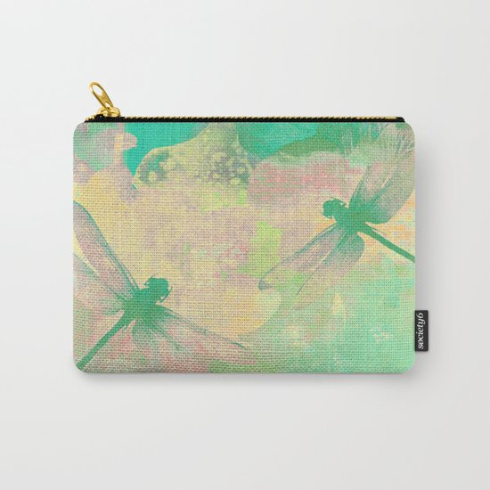 Green Painting Dragonflies Carry-All Pouch