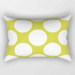 Polka Dots Green Rectangular Pillow