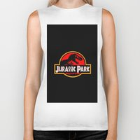 jurassic park Biker Tanks featuring Jurassic Park by MrWhite