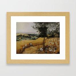 Pieter Bruegel the Elder, The Harvesters Framed Art Print
