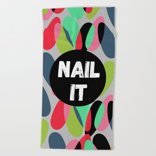 Nail It Beach Towel