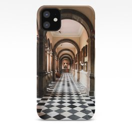 Perspective in a historic Glasgow hallway iPhone Case