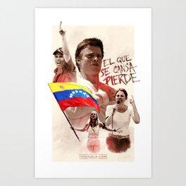 Venezuela's Resistance Art Print