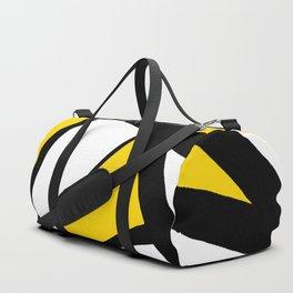 Sunshine Yellow Geometric Triangles Abstract Duffle Bag