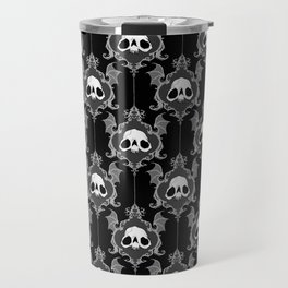 Halloween Damask Black Travel Mug