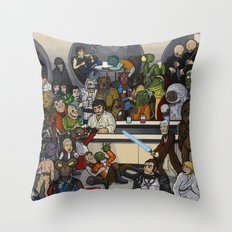 The Mos Eisley Cantina Throw Pillow