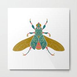 Beetleglam White Metal Print
