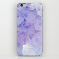 hydrangea iPhone & iPod Skins featuring hydrangea by clemm