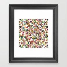Chromatic Grid Framed Art Print