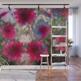 flowers abstract Wall Mural