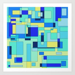 Digital geometric design 3 Art Print