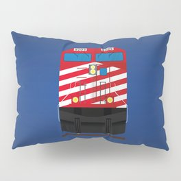 Red Train Pillow Sham