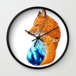 Serene Foxes Wall Clock