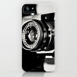 camera love b/w iPhone Case