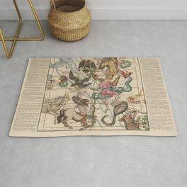 Vintage Celestial Map Rug