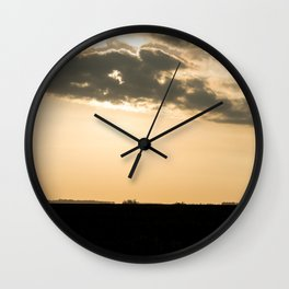 Sunset in the pampas. Wall Clock