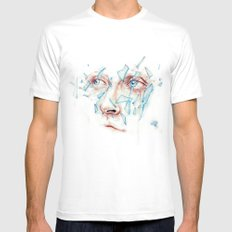 Shattered emotions Mens Fitted Tee MEDIUM White