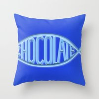 chocolate Throw Pillows featuring Chocolate by Sebastián Arango Guerrero