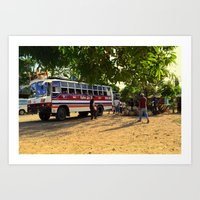 philippines Art Prints featuring Rest Stop 2 - Philippines by Michael S.