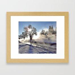 Frosty Morning Airbrush Artwork Framed Art Print