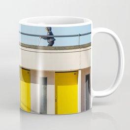 In scooter, yellow cabins Coffee Mug