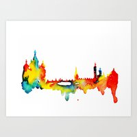 moscow Art Prints featuring Moscow by Talula Christian