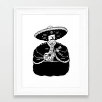 fat Framed Art Prints featuring The Fat Mariachi by David Penela