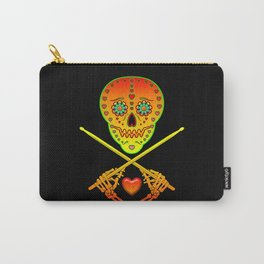 Neon Sugar Skull Drummer. Carry-All Pouch