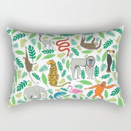 Animals in the Jungle Rectangular Pillow