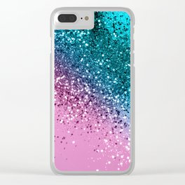 Tropical Beach Lady Glitter #8 #shiny #decor #art #society6 Clear iPhone Case