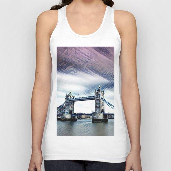 The Glorious London Bridge (Sunset & River) Unisex Tank Top