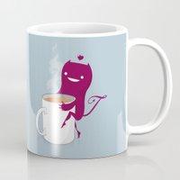 mandie manzano Mugs featuring Tea Monster by DWatson