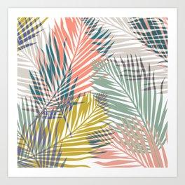 Pop Tropical Botanical Print Art Print