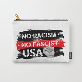No Racism Carry-All Pouch