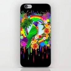 Rainbow Lorikeet Parrot Art iPhone Skin