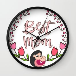Best Mom Mothers Day Gift Shirt Wall Clock