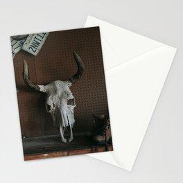 Long Horn Skull Stationery Cards
