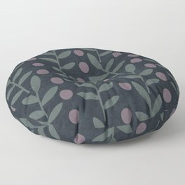 Midnight Leaves Floor Pillow