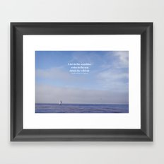 live, swim, drink Framed Art Print