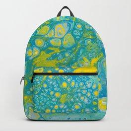 Dirty Acrylic Paint Pour 35, Fluid Art Reproduction Backpack