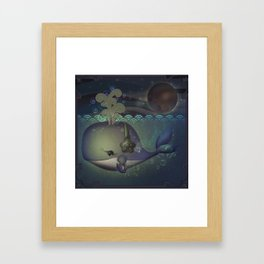 Music and the Whale Framed Art Print
