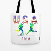 usa Tote Bags featuring USA by Robin Curtiss