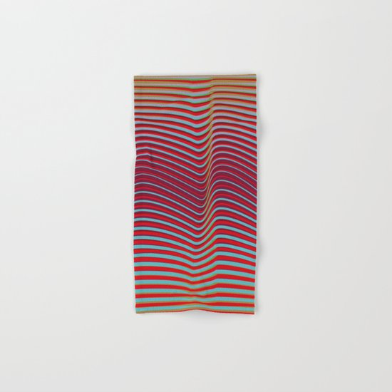 OpArt WaveLines 2 Hand & Bath Towel